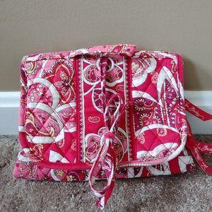 Vera Bradley Rosy Posies Essentials Cosmetic Bag